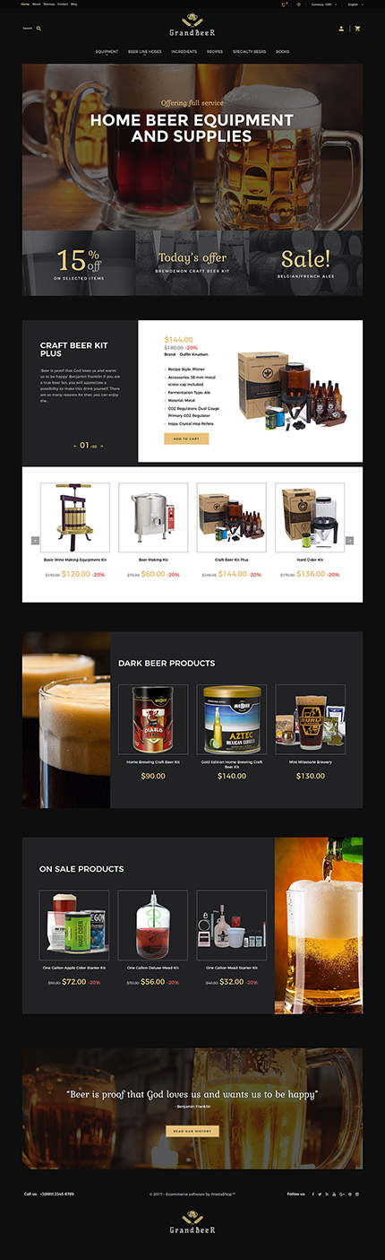 Cafe and Restaurant website inspirations at your coffee break? Browse for more PrestaShop #templates! // Regular price: $139 // Sources available: .PSD, .PHP, .TPL #Cafe and Restaurant #PrestaShop
