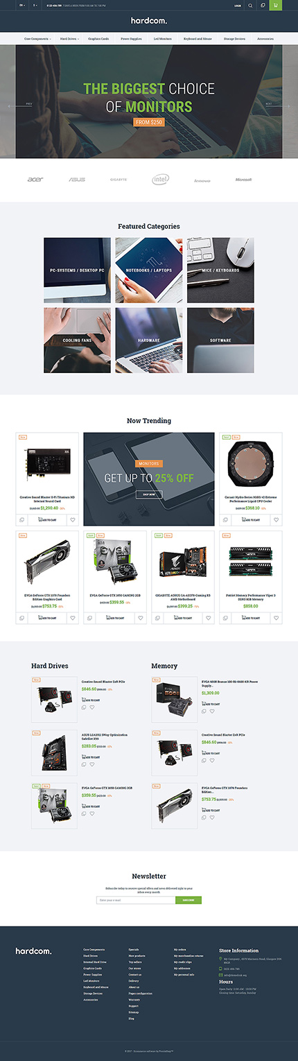 Computers website inspirations at your coffee break? Browse for more PrestaShop #templates! // Regular price: $139 // Sources available: .PSD, .PHP, .TPL #Computers #PrestaShop