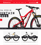 Bikes Store WordPress Template
