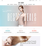 Hair extensions PrestaShop Template