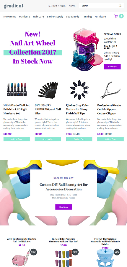 Beauty website inspirations at your coffee break? Browse for more OpenCart #templates! // Regular price: $69 // Sources available: .PSD, .PNG, .PHP, .TPL, .JS #Beauty #OpenCart