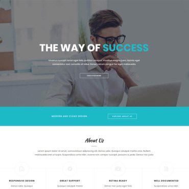 Landing Page Template # 65008