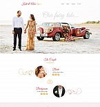Wedding Story Landing Page Template