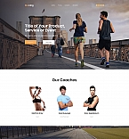 Running Club Landing Page Template