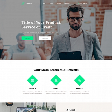 Landing Page Template # 65025
