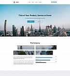 Industry Company Landing Page Template