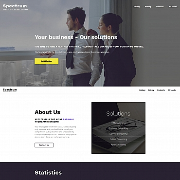 Landing Page Template # 65035
