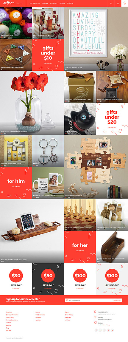 Gifts Most Popular website inspirations at your coffee break? Browse for more OpenCart #templates! // Regular price: $72 // Sources available: .PSD, .PNG, .PHP, .TPL, .JS #Gifts #Most Popular #OpenCart