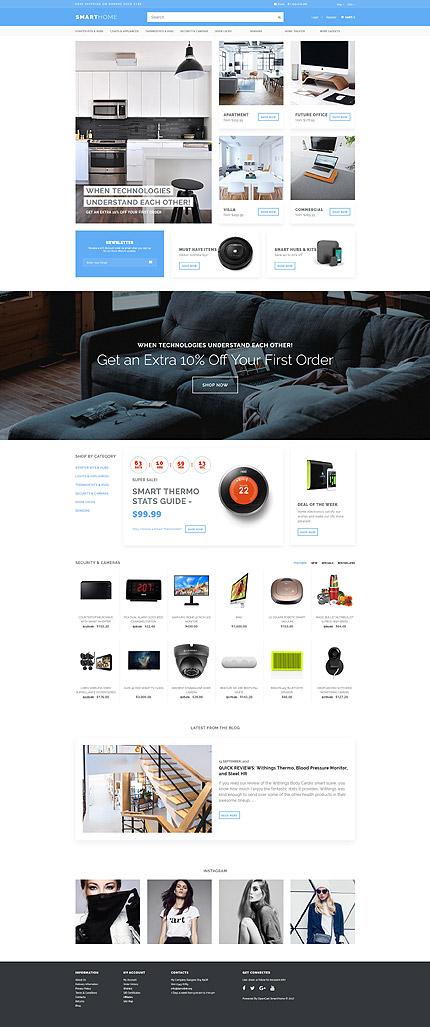 Electronics website inspirations at your coffee break? Browse for more OpenCart #templates! // Regular price: $69 // Sources available: .PSD, .PNG, .PHP, .TPL, .JS #Electronics #OpenCart