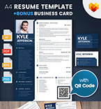 Moto cms cv template 65235 - Buy this design now for only $17