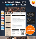 Moto cms cv template 65236 - Buy this design now for only $17
