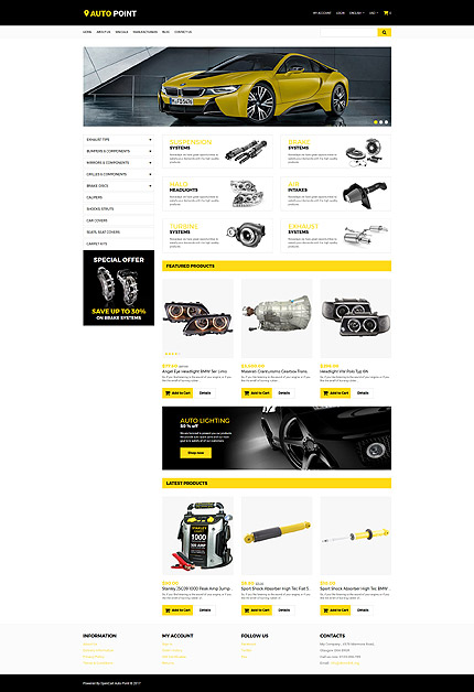 OpenCart Main Page