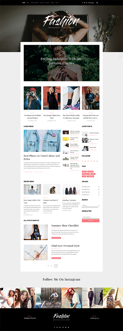 Fashion Most Popular website inspirations at your coffee break? Browse for more WordPress #templates! // Regular price: $45 // Sources available:.PHP, This theme is widgetized #Fashion #Most Popular #WordPress