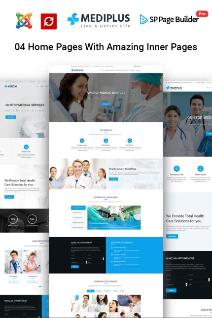 Medical website inspirations at your coffee break? Browse for more Vendors #templates! // Regular price: $65 // Sources available: #Medical #Vendors