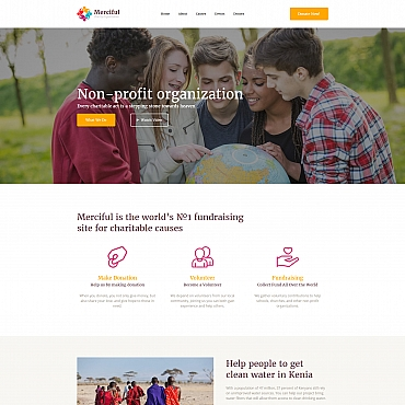 Landing Page Template # 65474
