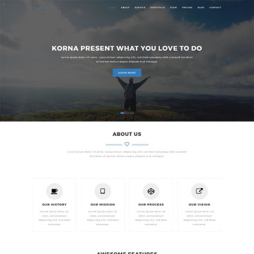 Landing Page Template # 65549