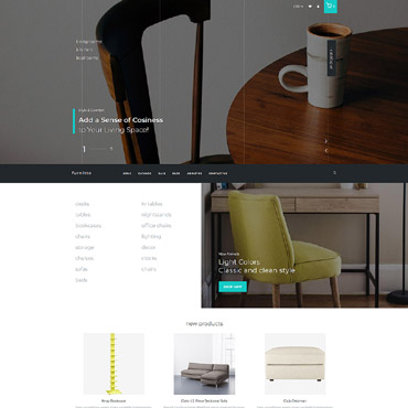 Interior Design And Furniture Store Web Site Templates