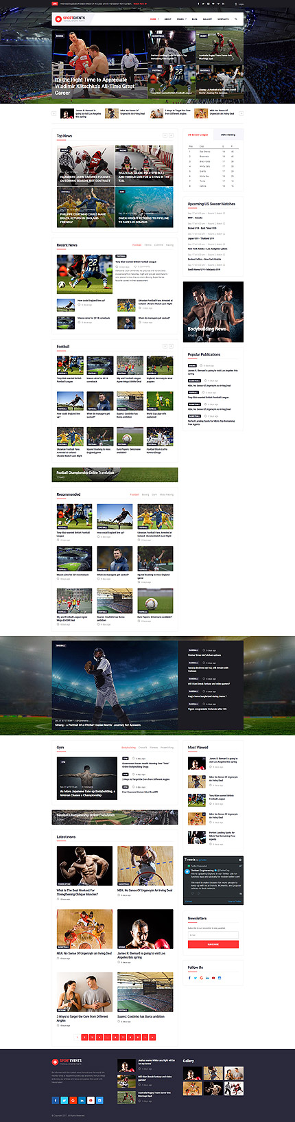 Sport Most Popular website inspirations at your coffee break? Browse for more Joomla #templates! // Regular price: $75 // Sources available: .PSD, .PHP #Sport #Most Popular #Joomla