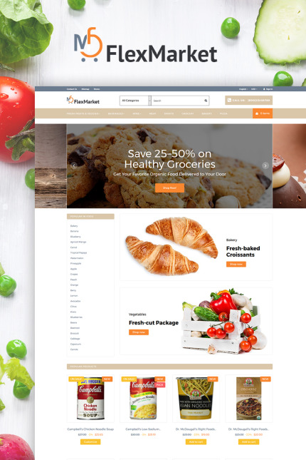 Food & Drink website inspirations at your coffee break? Browse for more Vendors #templates! // Regular price: $139 // Sources available: #Food & Drink #Vendors