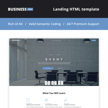 Landing Page Template # 66122