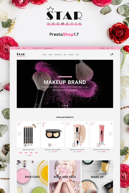 Beauty website inspirations at your coffee break? Browse for more Vendors #templates! // Regular price: $139 // Sources available: #Beauty #Vendors
