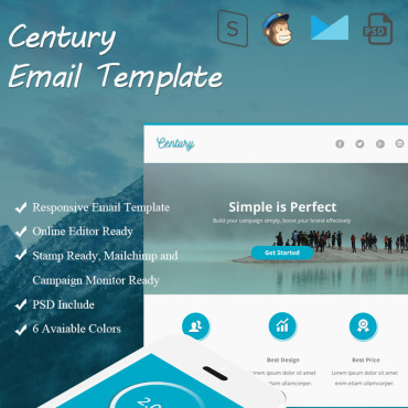 Newsletter Template # 66305