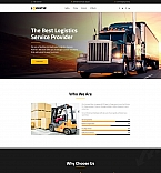 Logistic Company Landing Page Template