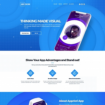 Landing Page Template # 66377