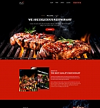 BBQ Restaurant Landing Page Template