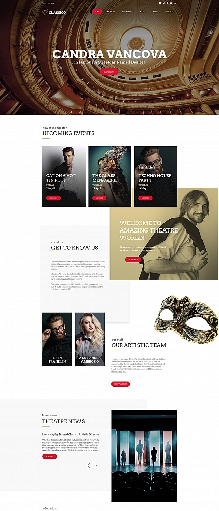 Entertainment website inspirations at your coffee break? Browse for more Moto CMS HTML #templates! // Regular price: $139 // Sources available:<b>Sources Not Included</b> #Entertainment #Moto CMS HTML