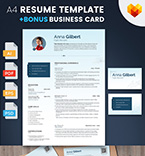 Template 66436 Resume Templates