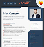Template 66438 Resume Templates