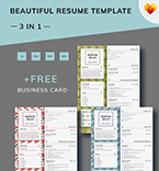 Template 66453 Resume Templates