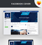 Facebook cover template 66591 - Buy this design now for only $6
