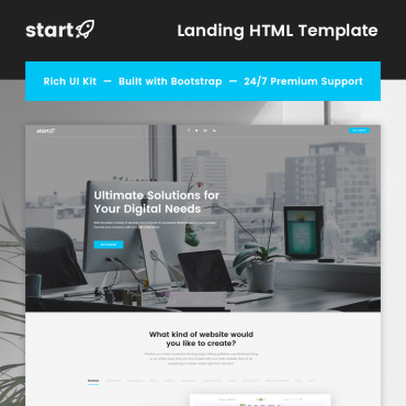 Landing Page Template # 66760