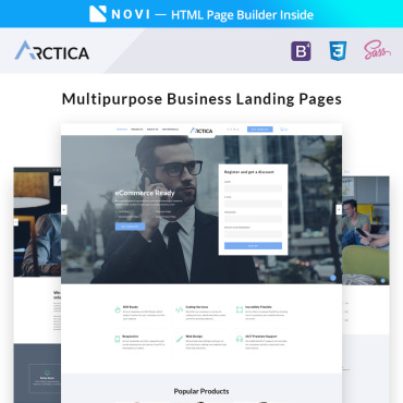 Landing Page Template # 67051