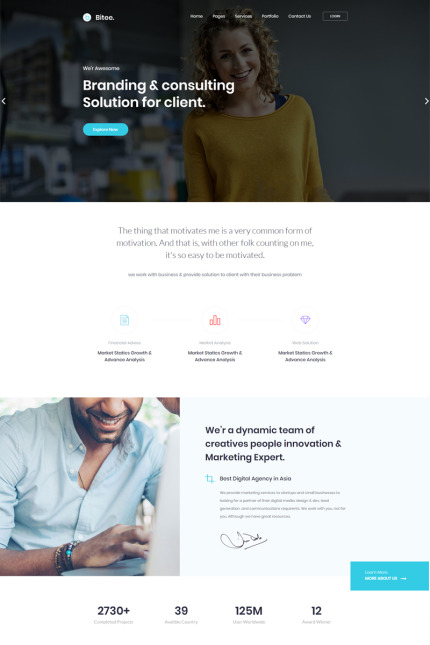 Business website inspirations at your coffee break? Browse for more Vendors #templates! // Regular price: $72 // Sources available: #Business #Vendors