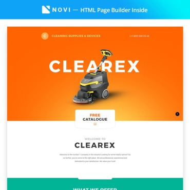 Landing Page Template # 67242
