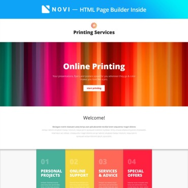 Landing Page Template # 67261