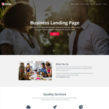 Landing Page Template # 67315