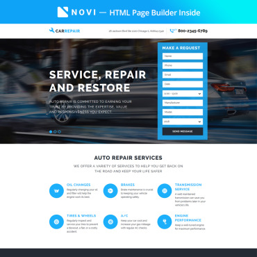 Landing Page Template # 67411