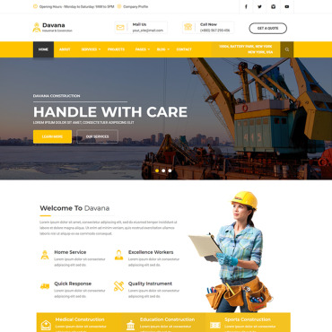 Website Template # 67725