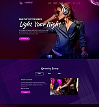 Caribbean Night Club Landing Page Template