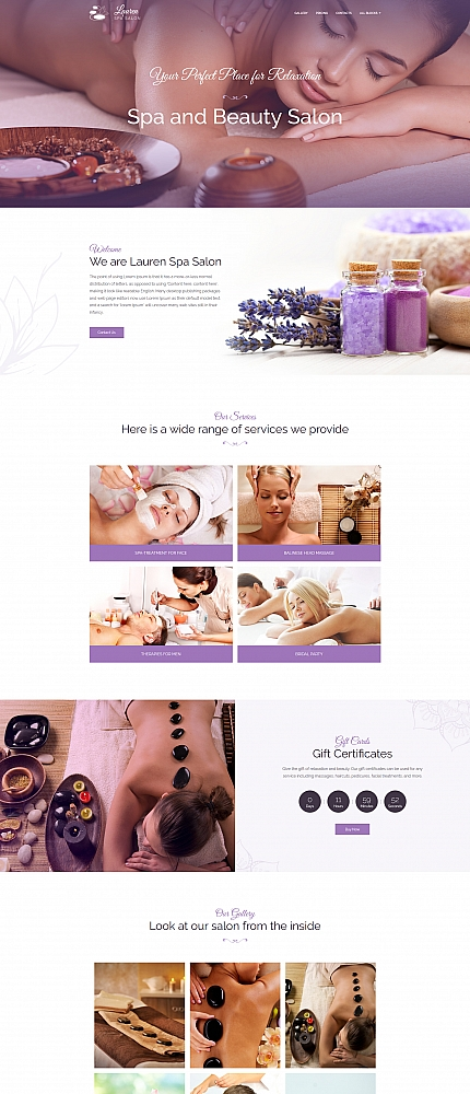 Massage & Beauty Salon Landing Page Template