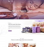 Massage & Beauty Salon Landing Page Template