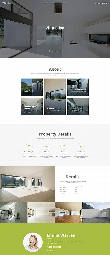 Real Estate website inspirations at your coffee break? Browse for more Moto CMS HTML #templates! // Regular price: $139 // Sources available:<b>Sources Not Included</b> #Real Estate #Moto CMS HTML