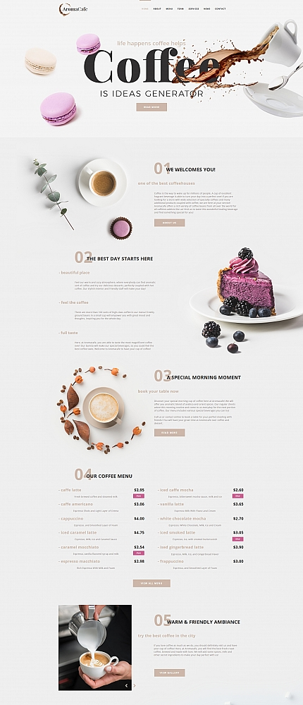 Cafe and Restaurant website inspirations at your coffee break? Browse for more Moto CMS HTML #templates! // Regular price: $139 // Sources available:<b>Sources Not Included</b> #Cafe and Restaurant #Moto CMS HTML