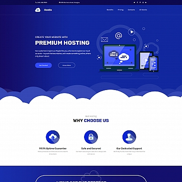 Landing Page Template # 68220
