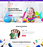 Kids Center Landing Page Template