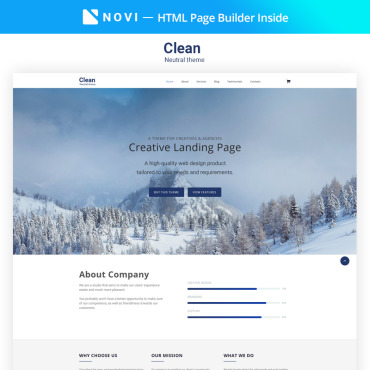 Landing Page Template # 68348